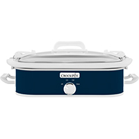 Crock-Pot SCCPCCM350-BL Casserole Crock Slow Cooker, 3.5 qt, Ceramic