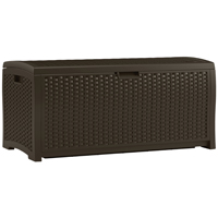 BOX DECK RSN WICKER 77GAL BRN