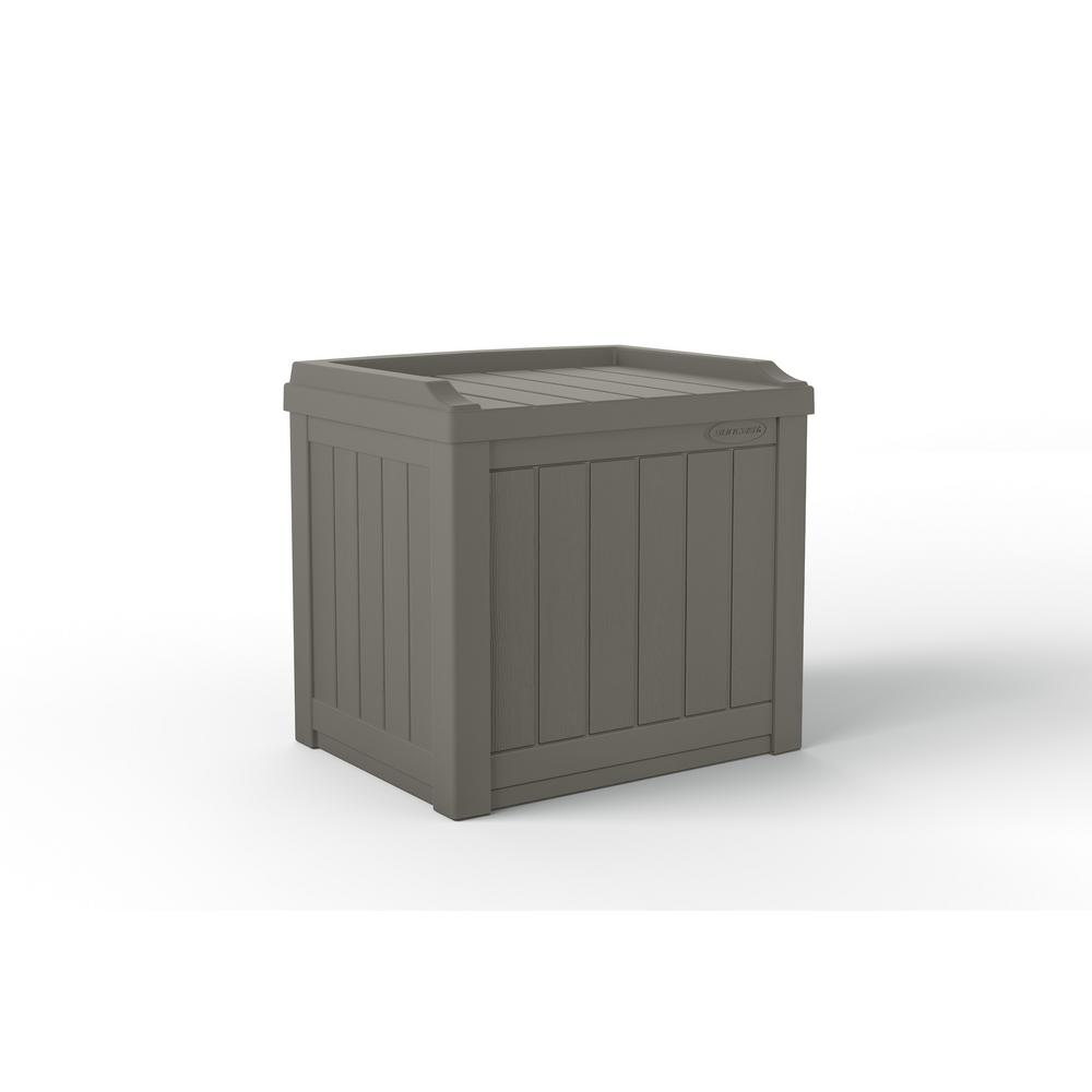 BOX DECK SEAT RESIN GRAY 22GAL