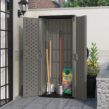 SHED VERTICAL STOR GRY 22CU FT