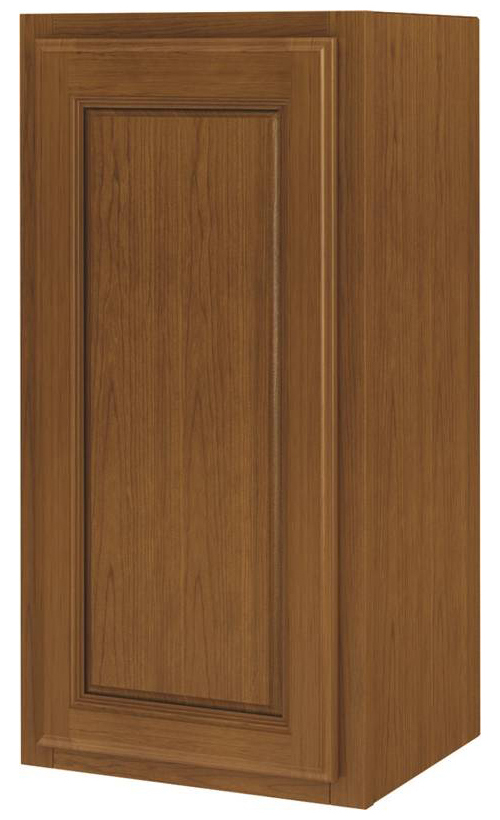 Randolph W1830RA Single Door Kitchen Cabinet, 18 in W X 12 in D X 30 in H, Amber