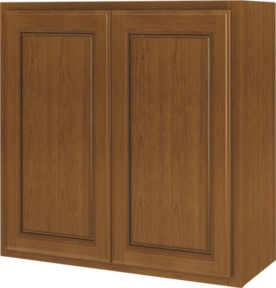 Randolph W3030RA-B Double Door Kitchen Cabinet, 30 in W X 12 in D X 30 in H, Amber