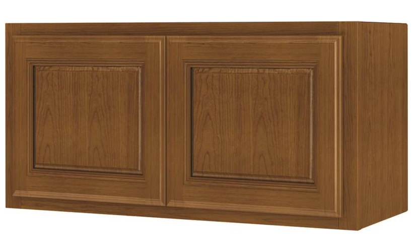 Randolph W3015RA-B Double Door Kitchen Cabinet, 30 in W X 12 in D X 15 in H, Amber