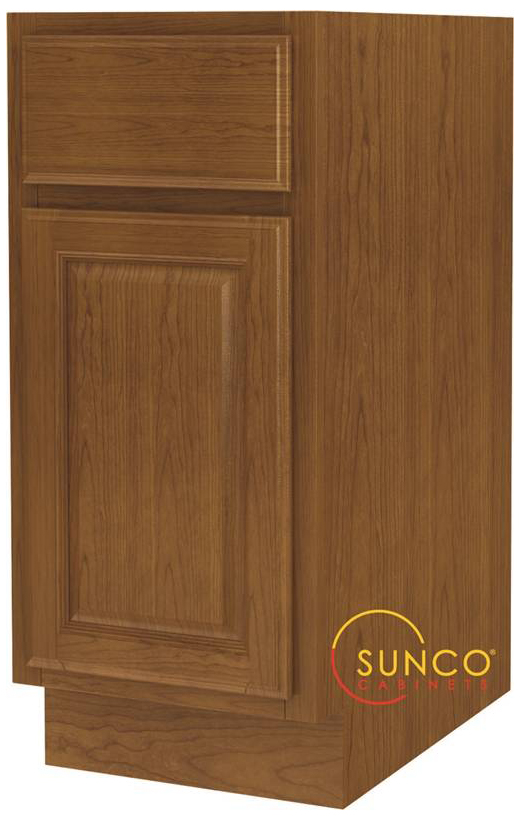 Randolph B15RT Single Door Wide Base Kitchen Cabinet With Drawer, 15 in W X 24 in D X 34-1/2 in H