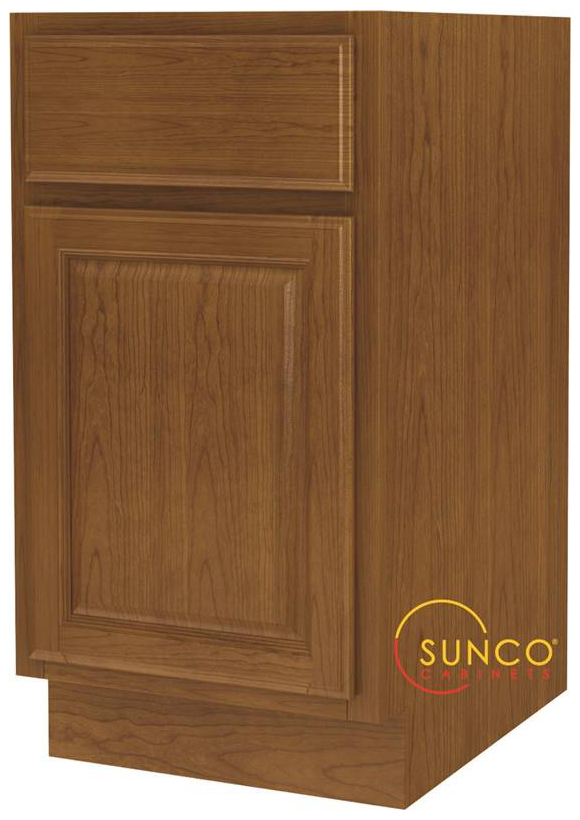 Randolph B18RT Single Door Wide Base Kitchen Cabinet With Drawer, 18 in W X 24 in D X 34-1/2 in H