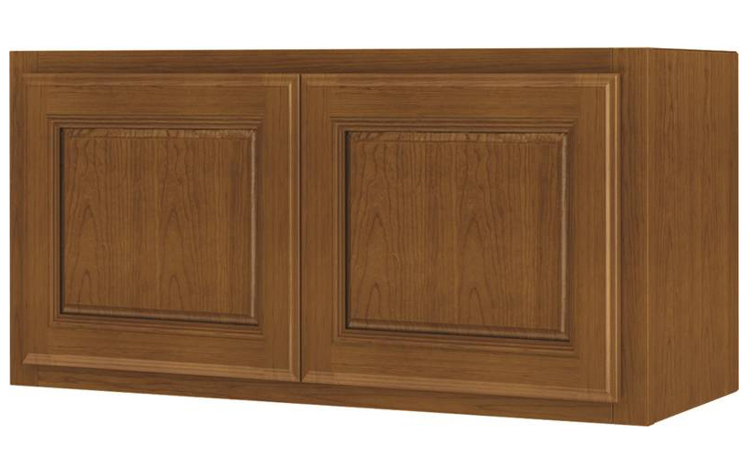 Randolph W3615RA-B Double Door Kitchen Cabinet, 36 in W X 12 in D X 15 in H, Amber