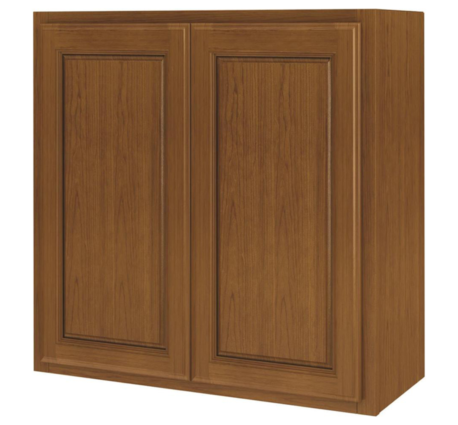 Randolph W2730RA-B Double Door Kitchen Cabinet, 27 in W X 12 in D X 30 in H, Amber