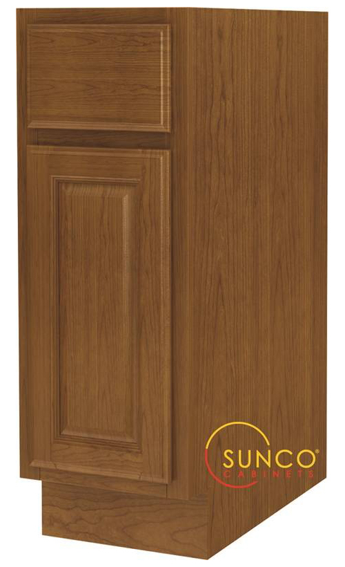 Randolph B12RT Single Door Wide Base Kitchen Cabinet With Drawer, 12 in W X 24 in D X 34-1/2 in H