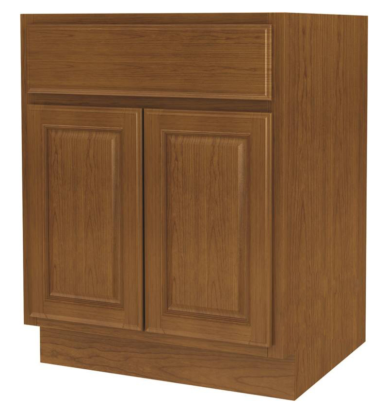 Randolph B27RT-B Double Door Wide Base Kitchen Cabinet With Drawer, 27 in W X 24 in D X 34-1/2 in H