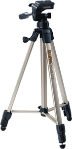 "Sunpak 620-060 Tripod with 3-Way Pan Head (Folded height: 20.3""; Extended height: 58.32""; Weight: 2.8lbs; Includes 2nd quick-"