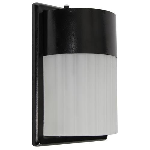 LED EXTERIOR WALL PACK WITH PHOTO CELL, FROSTED ACRYLIC LENS, 10 IN., BLACK, USES (1) 17-WATT LED INTEGRATED PANEL