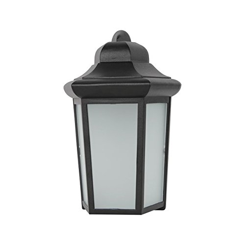 LED OUTDOOR LANTERN, FROSTED GLASS, 12-1/4 IN., BLACK, USES (1) 9-WATT LED INTEGRATED PANEL