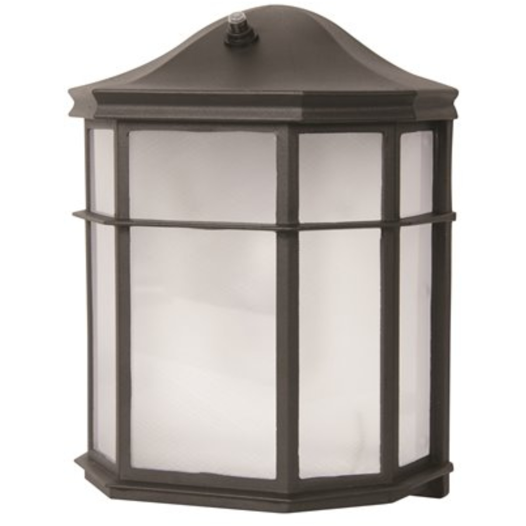 LED OUTDOOR LANTERN WITH PHOTO CELL, ACRYLIC LENS, 9-1/2 IN., BLACK, USES (1) 9-WATT LED INTEGRATED PANEL