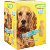 Pet Life 02907 Crunchy Texture Dog Biscuit, 4 lb, Milk
