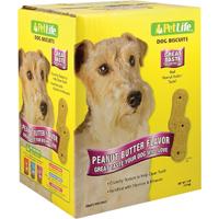 Pet Life 02910 Crunchy Texture Dog Biscuit, 4 lb, Peanut Butter