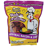 PET TREAT BACON/CHEESE 25OZ