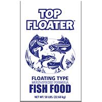FISH FOOD TOP FLOATER 50LB