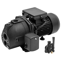 Superior Pump 94115 Shallow Well Jet Pump With Eject Kit, 1 hp, 1-1/4 NPT Inlet, 1 in Outlet, 25 ft Suction Lift