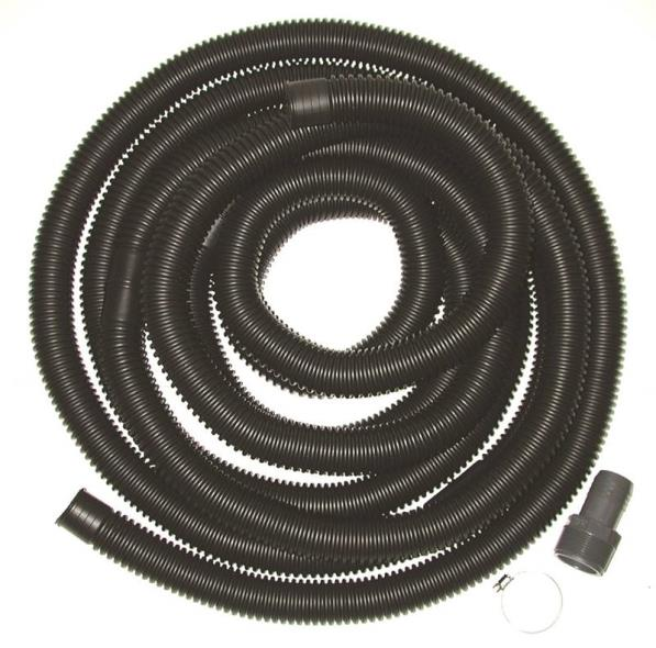 American Granby SPDK15OMHD Discharge Hose Kit With Stainless Steel Clamp 24 ft, Male X FIPT, Polyethylene