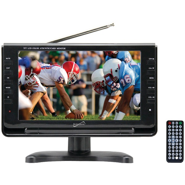 "Supersonic SC-499 9"" TFT Portable Digital LCD TV, AC/DC Compatible with RV/Boat"