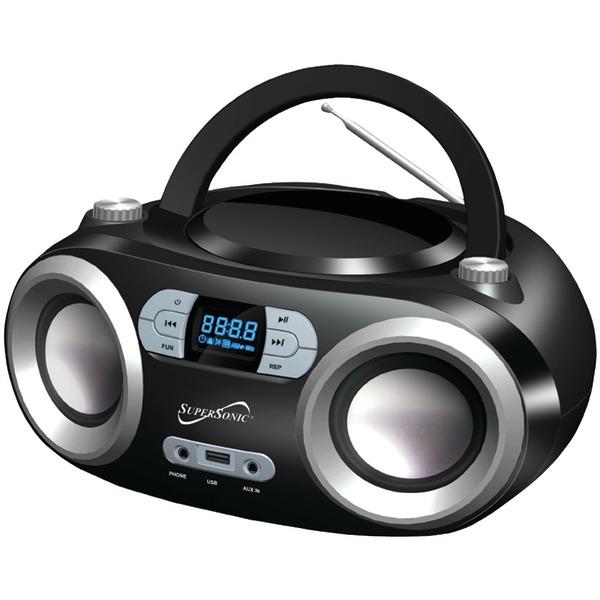 Supersonic SC-509BT BLACK Portable Bluetooth Audio System (Black)