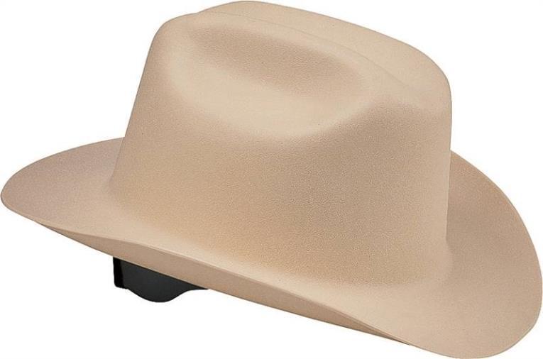 Jackson 3010943 Hard Hat, Western Outlaw, HDPE Blended Plastic, White