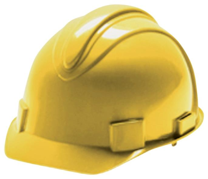 Jackson Charger 3013370 Hard Hat, Slotted, Cap Brim, HDPE, Yellow