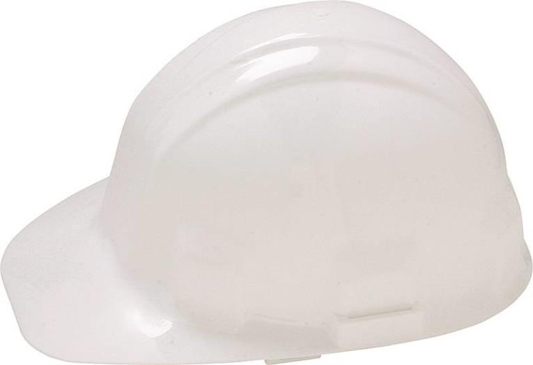 Jackson Sentry III 3000064 Hard Hat, Slotted, Cap Brim, HDPE, White