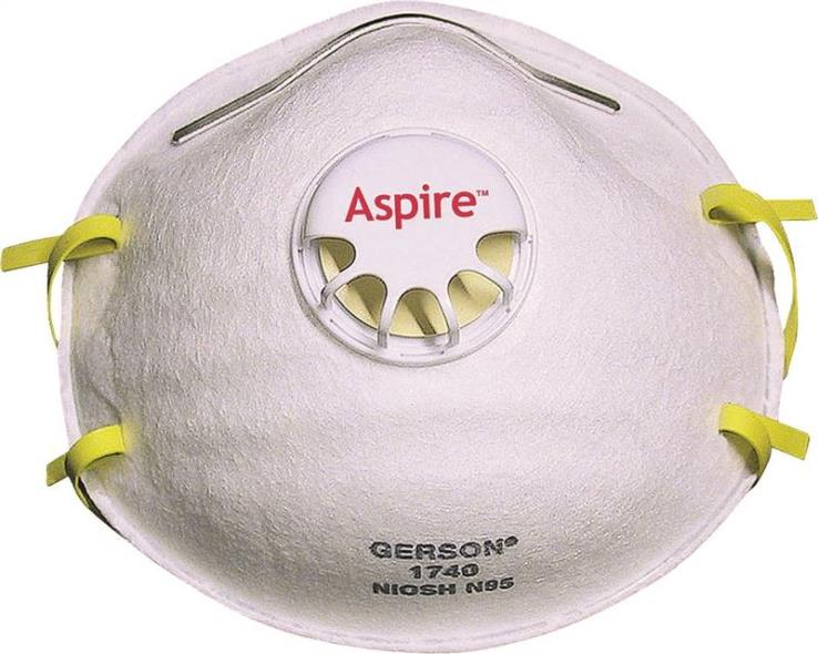 Jackson 64240 Disposable Particulate Respirator With Valve, Universal, N95, White