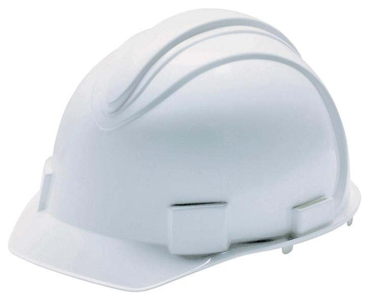 Jackson Charger 3013362 Hard Hat, Slotted, Cap Brim, HDPE, White