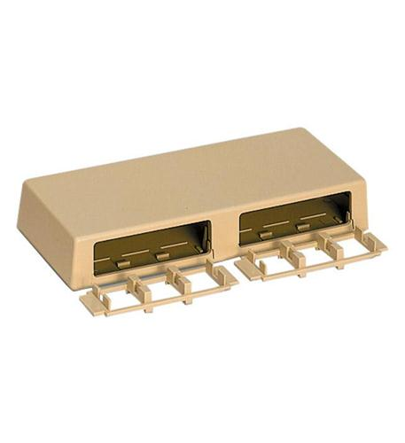 HOUSING SURFACE MOUNT 6 PORT IVORY