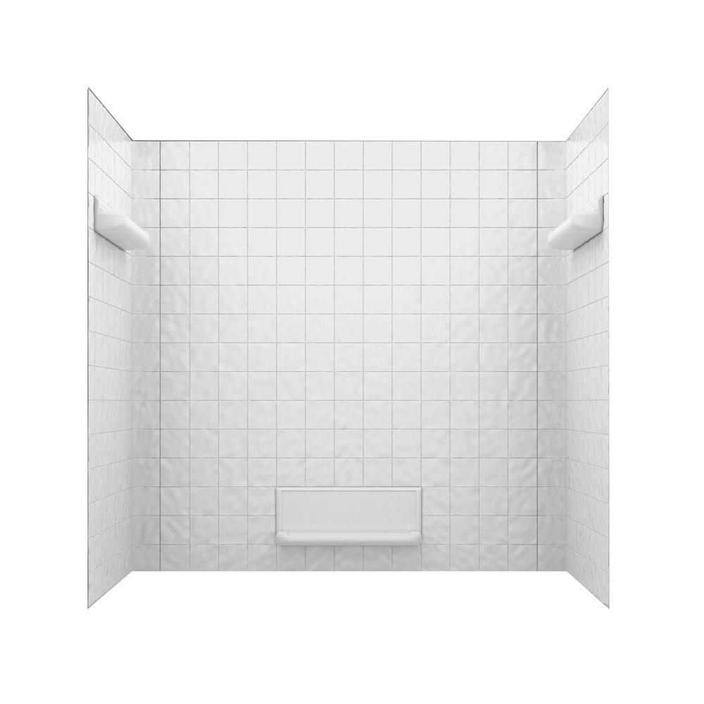 SWAN� TI-5 SWANTILE� 5-PIECE BATHTUB WALL KIT, 32 D X 60 W IN., WHITE
