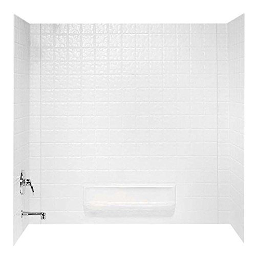 SWAN� TI-3 SWANTILE� 3-PIECE BATHTUB WALL KIT, 30 D X 60 W IN., WHITE