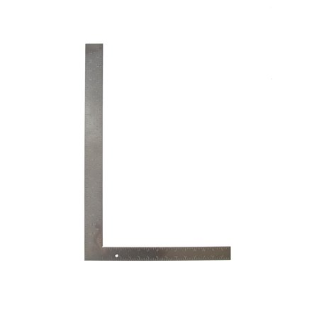 Swanson TS157 Carpenter Square, 16 X 24 in, 0.125 in, Aluminum Alloy/Steel, Nickel Plated, Matte