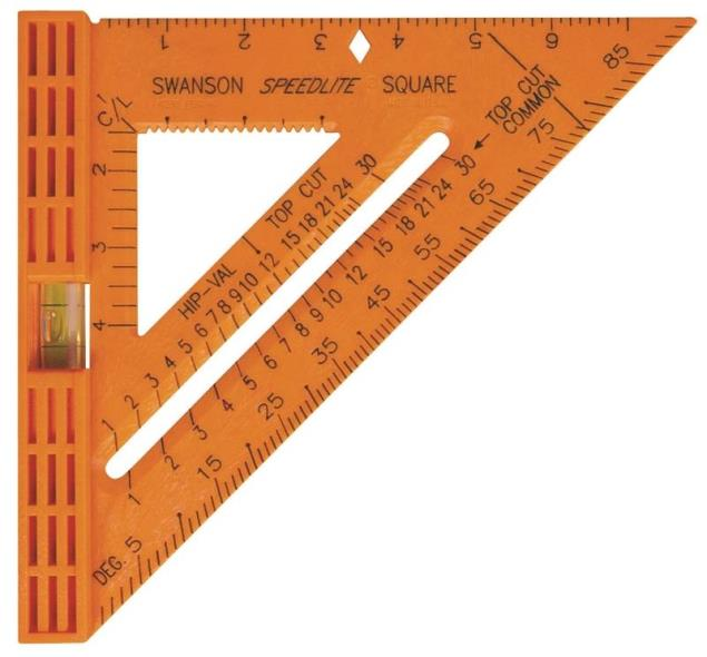 Swanson Speedlite T0111NEW Level Square, 8 X 8 in, Gray