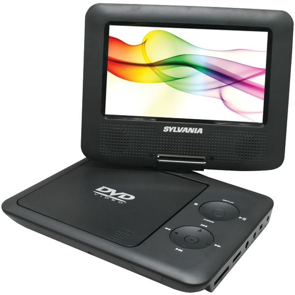 "SYLVANIA SDVD7027 BLACK 7"" Swivel-Screen Portable DVD Players (Black)"