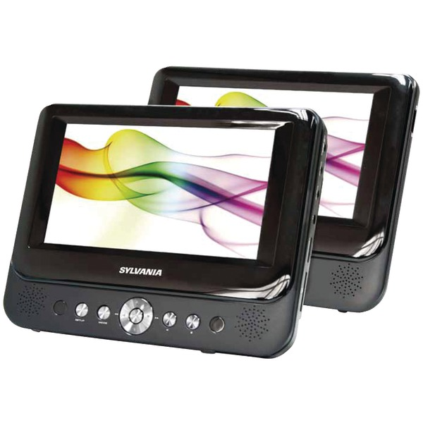 "SYLVANIA SDVD9957 9"" Dual-Screen Portable DVD Player"