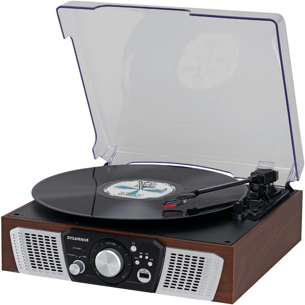 SYLVANIA SRC831 Turntable with 2 Built-in Speakers & USB Playback