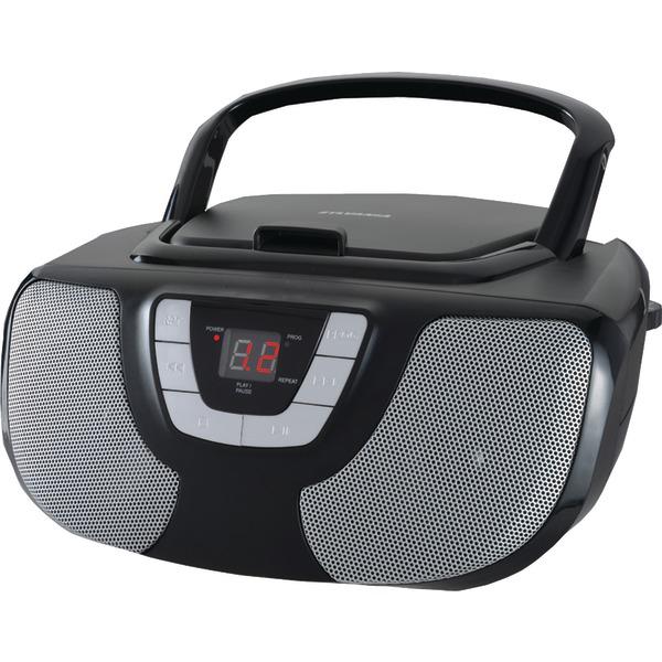SYLVANIA SRCD1025-BLACK Portable CD Radio Boom Box (Black)