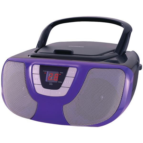 SYLVANIA SRCD1025-PURPLE Portable CD Radio Boom Box (Purple)
