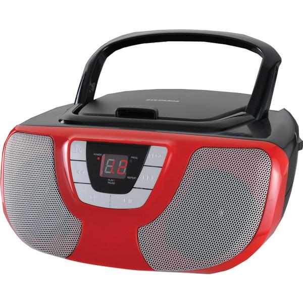 SYLVANIA SRCD1025-RED Portable CD Radio Boom Box (Red)