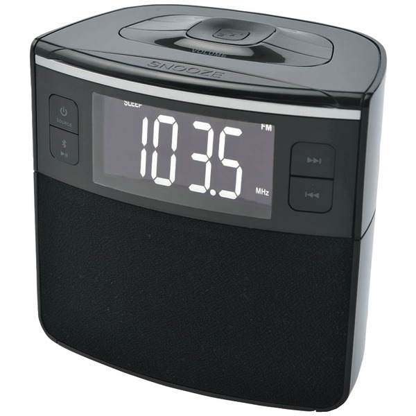 SYLVANIA SCR1986BT-AS Bluetooth Clock Radio with Auto-Set Dual Alarm Clock & USB Charging