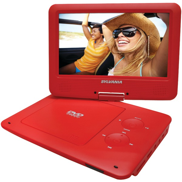 "SYLVANIA SDVD9020B-RED 9"" Portable DVD Players with 5-Hour Battery (Red)"