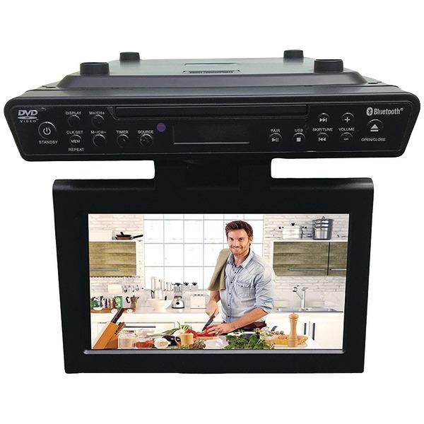 "SYLVANIA SKCR2706BT 10.2"" Under-Counter Bluetooth Kitchen TV with Built-in DVD Player & HDMI"