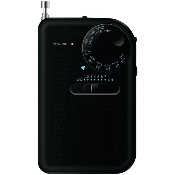 SYLVANIA SRC100-BLACK Portable AM/FM Radio (Black)