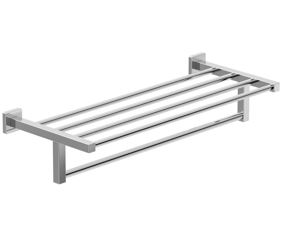 22 Towel SHELF With Bar *DURO Polished Chrome