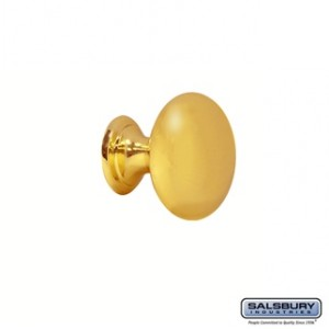 Knob Pull - for Solid Oak Executive Wood Locker - Gold Finish