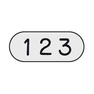 Custom Engraved Number Plate - for Heavy Duty Plastic Locker Door