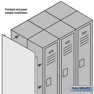Salsbury Industries Finished Double End Panel - for 5 Feet High 15 Inch Deep Metal Locker - Gray at Sears.com