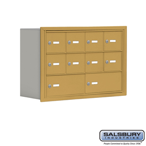 Salsbury Industries Cell Phone Storage Locker - 3 Door High Unit (8 Inch Deep Compartments) - 8 A Doors and 2 B Doors - Gold - Recessed Mounted - Ma at Sears.com